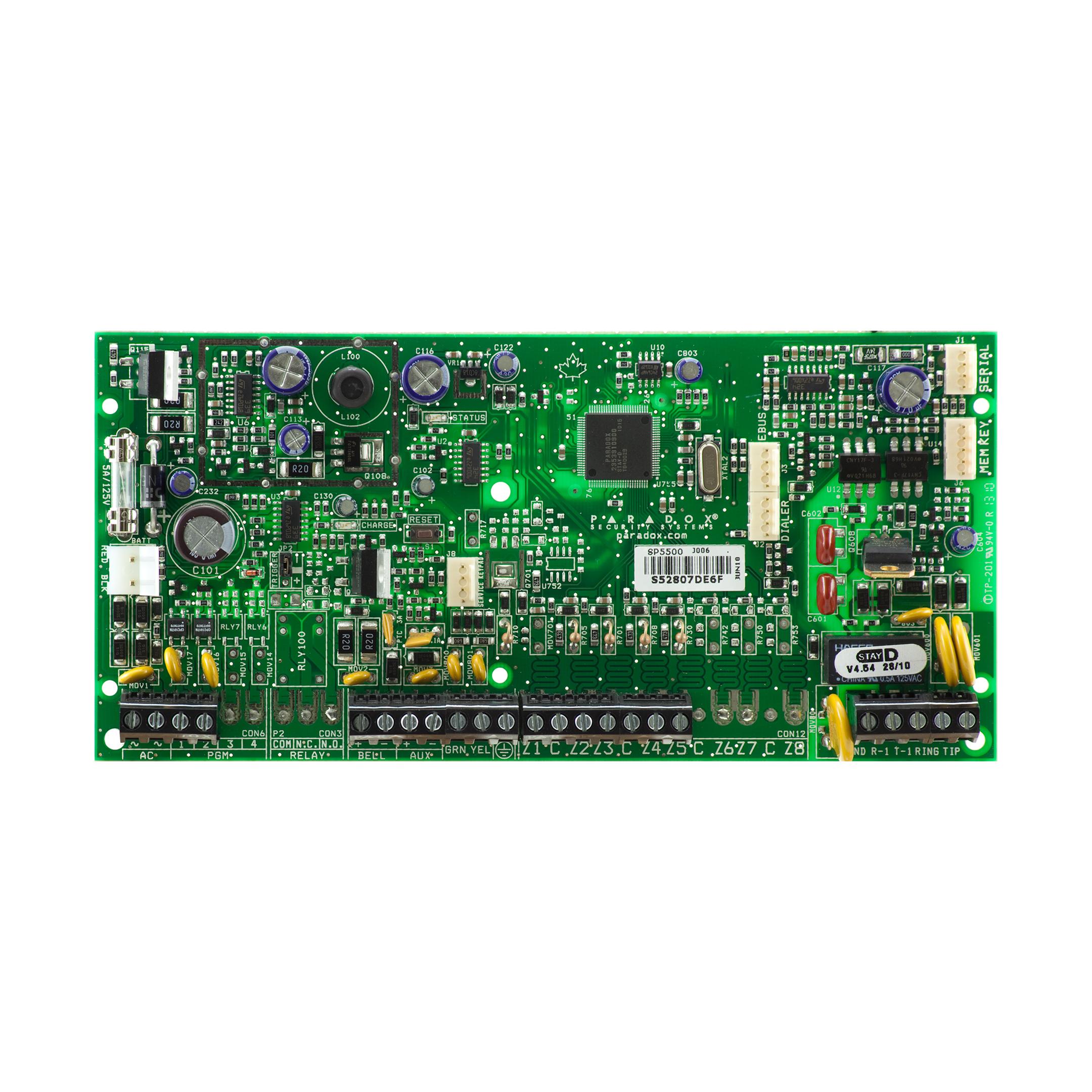 کنترل پنل منطقه 5 تا 32 مدلSP5500 پارادوکس